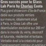 Verre & Menuiserie Actualités | Février mars 2016 - Glass Lab Paris